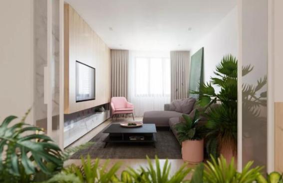 小清新装修风格的二居室